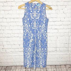 J McLaughlin Catalina Cloth Snakeskin Print Dress